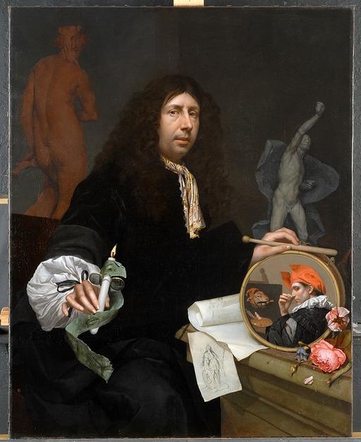 "Johann van Wikkersloot  ""Selbstbildnis des Künstlers"" (1699)"